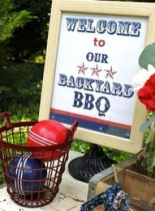 backyard bbq sign