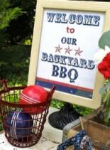 backyard bbq sign