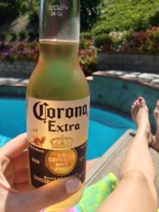 Corona by the pool Memorial Day 2013