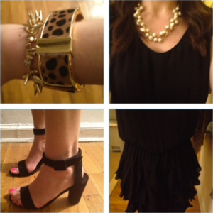 Cynthia Rowley dress Zara heels J. Crew jewelry ootd