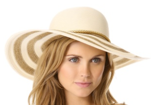 Eugenia Kim bunny metallic striped sun hat