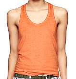 Gap burnout racer tank in heatwave orange