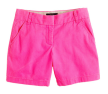 "J. Crew 5"" chino short in shocking pink"