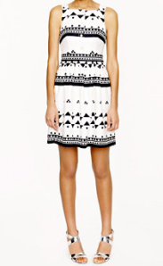 J. Crew button front dress in roller girl