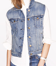 J. Crew denim vest in workwear wash