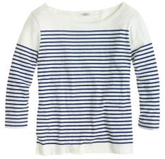 J.Crew engineered stripe boatneck shirt