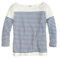 J. Crew engineered stripe boatneck top