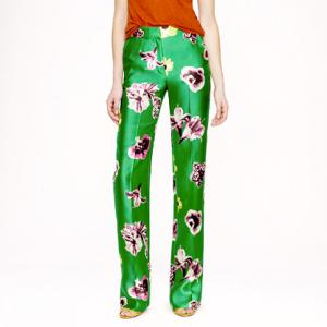 J. Crew Punk Floral Trouser