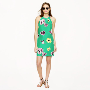 J. Crew Swoop Dress in Punk Floral