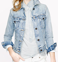 J. Crew vintage denim jacket