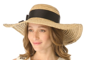 Jonathan Adler overstitched straw sun hat