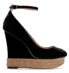Zara ankle strap peep toe wedge