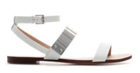 Zara flat sandals with metallic strap