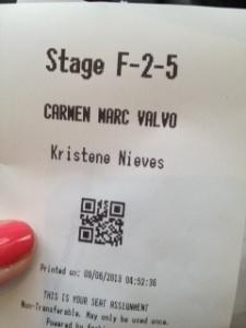 Carmen Marc Valvo ticket