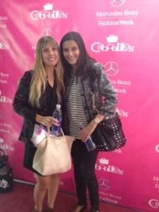 Christina and me at NYFW sp 14