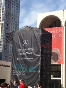 NYFW Lincoln Center exterior